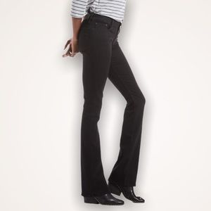 LUCKY BRAND Black Mia Embroidered Bootcut Jeans